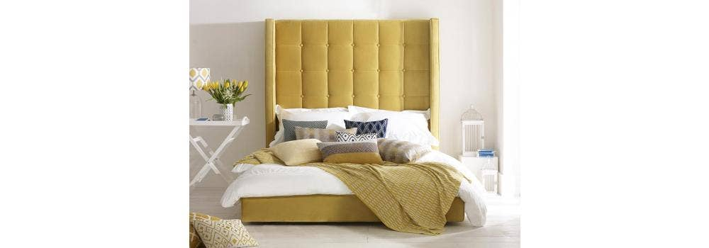 Luxury Upholstered Beds: 4 Fabric Styles, Over 50 Shades