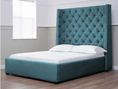 Arthur Tall Storage Bed - Double (Chatsworth Blue) IS